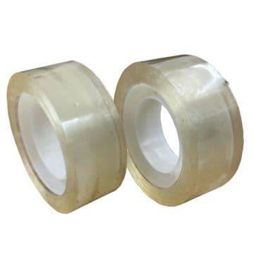 2 pcs 20mm wide TRANSPARENT STICKY TAPE sellotape packing present tapes